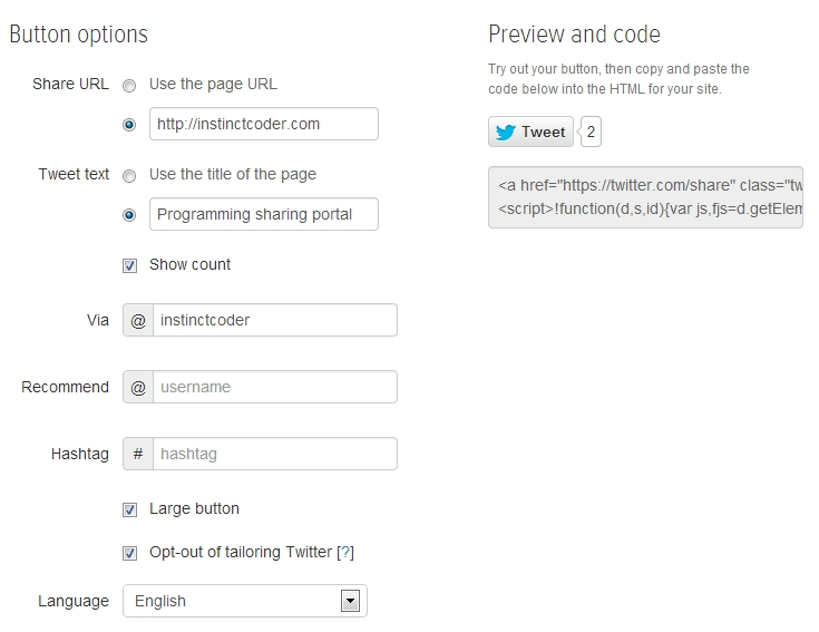 How to add facebook twitter google plus share button in ASP.Net MVC 4